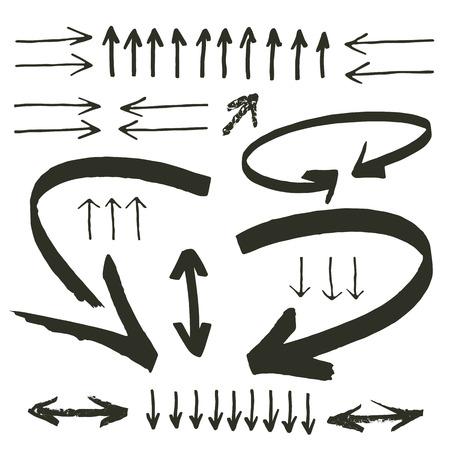 felt tip: hand drawn arrows collection