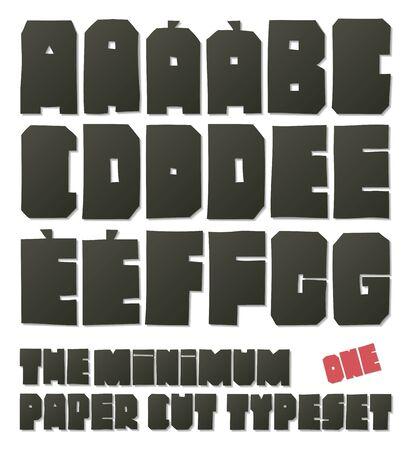 minimum: The minimum paper cut typeset