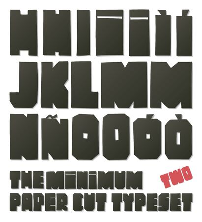 typeset: The minimum paper cut typeset