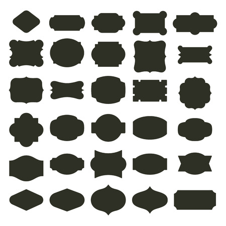 Basic labels set  イラスト・ベクター素材