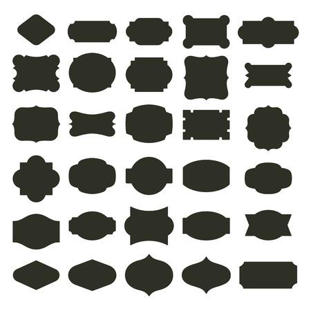 forme: étiquettes de base définies Illustration