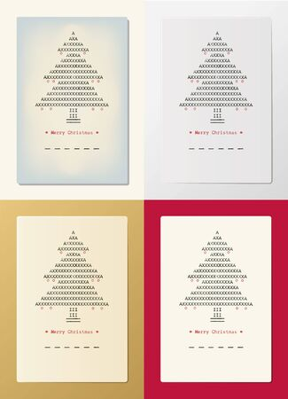 christmas backgrounds: Typed Christmas cards on different backgrounds made with old  typewriter