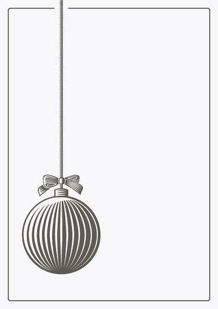 christmas tree ball: Christmas tree ball in vector woodcut style.