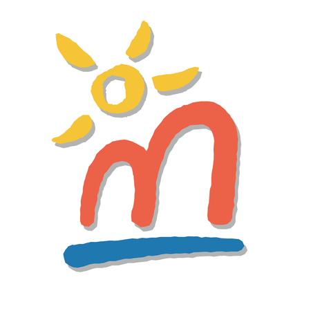 illustrative holiday resort symbol