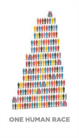 babel tower in isotype pictograms