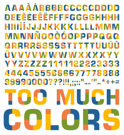 solid color: Solid color typeset with alternatives for each glyph. Easy to customize