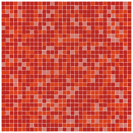 edges: vector seamless pattern of red mosaic tiles with ragged edges Illustration