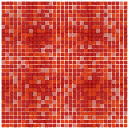 Vektor nahtlose Muster aus roten Mosaikfliesen mit zackigen Rändern