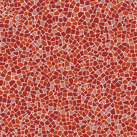 floor covering: Red broken tiles (trencadis) seamless pattern