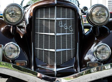 shiny car: Old american car shiny front
