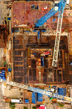 Vista desde arriba del edificio constrution Foto de archivo - 57223681