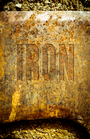 embossed: rusty iron surface embossed