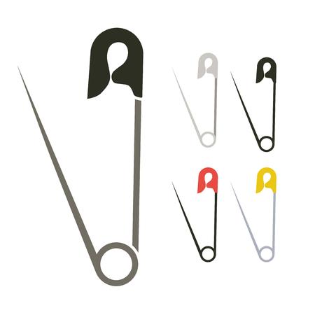 El diseño simple alfiler de gancho plana