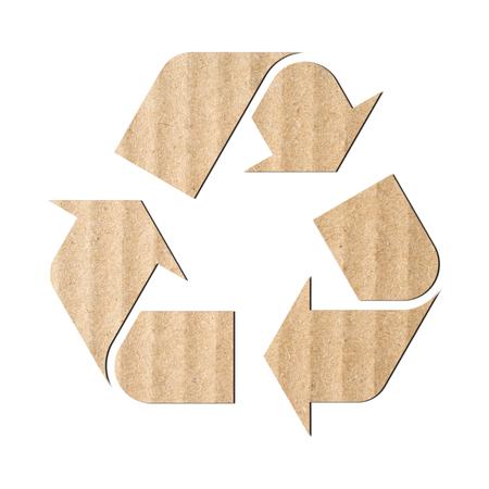 logo recyclage: symbole de recyclage fait de carton ondulé