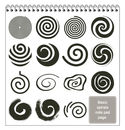 Basic spirals collection