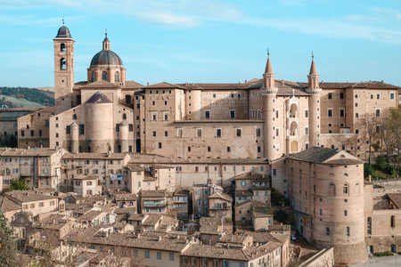humanism: Urbino Marche Italy. Classic view Stock Photo
