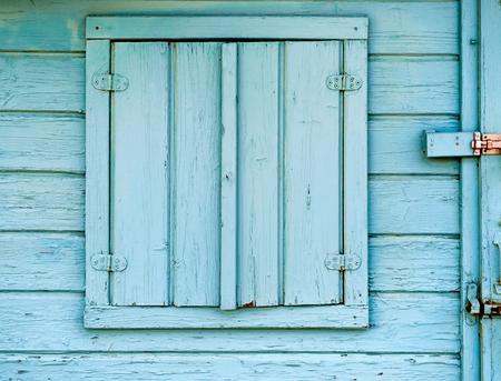 flap: Hand made little house window Stock Photo