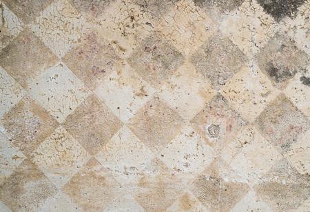 distressed: Distressed external wall diamonds decoration Stock Photo