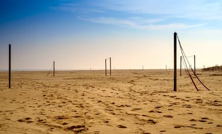trampled: Winter beach on Adriatic sea. Emilia-romagna, Italy.