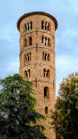 The Romanesque Bell tower of the SantApollinares Basilica. Classe, Ravenna, Emilia-Romagna, Italy. Editorial