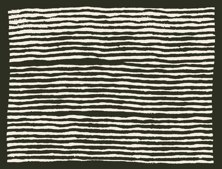 erratic: Painted brush lines horizontal pattern Illustration