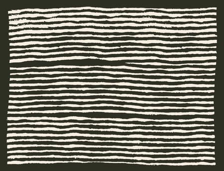 Painted brush lines horizontal pattern Illustration