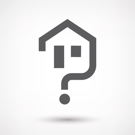 residence: House question icon isolated.