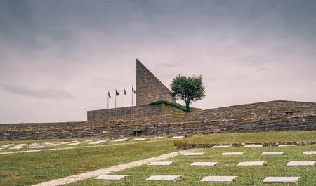 Second World War german cemetery in Italy. Passo della Futa, Florence province.
