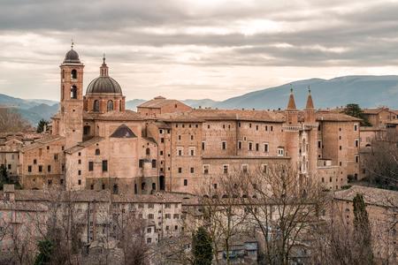In a winter cloudy day, Urbino, Marche, Italy;