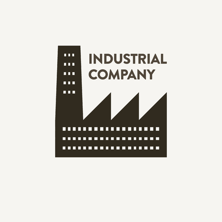 flat industrial corporate sign Иллюстрация