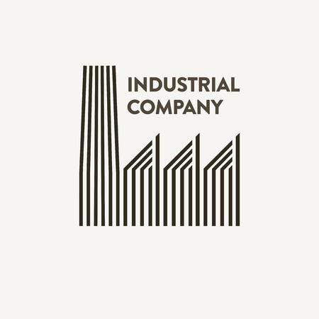 flat industrial corporate sign Foto de archivo - 114404691
