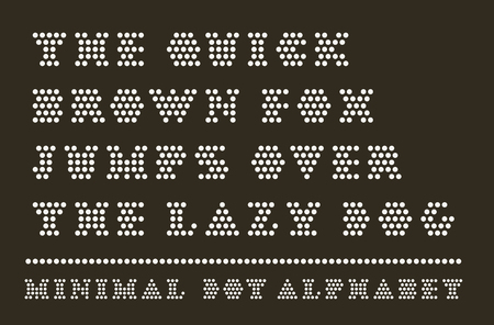 Dotted font capitals typeset Foto de archivo - 119657697