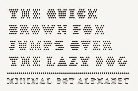 Dotted font capitals typeset Foto de archivo - 119657704