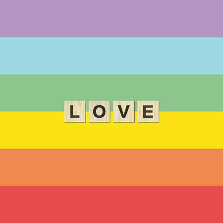 Tolerance and peace rainbow flag love.