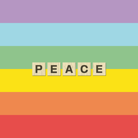 Tolerance and peace rainbow flag peace. 向量圖像