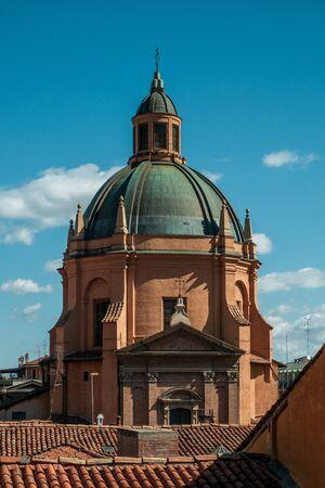The dome of Saint Mary of life (Santa Maria della vita). Bologna, Emilia Romagna, Italy.