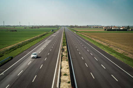 03/28/2020 - 3 pm. North Italy, Bologna province: A14 highway at time of the pandemic prevention