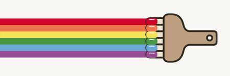 brush to paint the rainbow