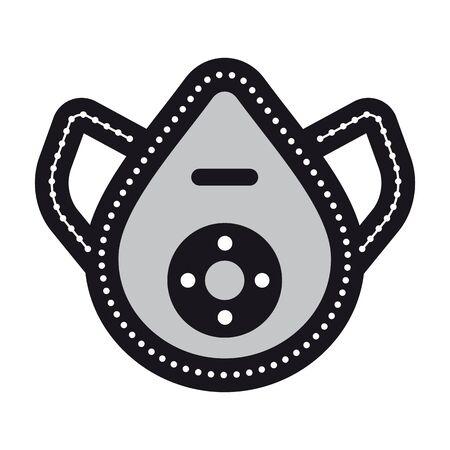symbolic safe mask vector icon Vettoriali
