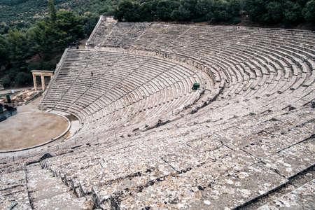 Great ancient theater of Epidaurus, Peloponnese, Greece.