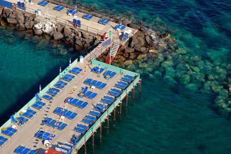 coastal feature: Sorrento beache.