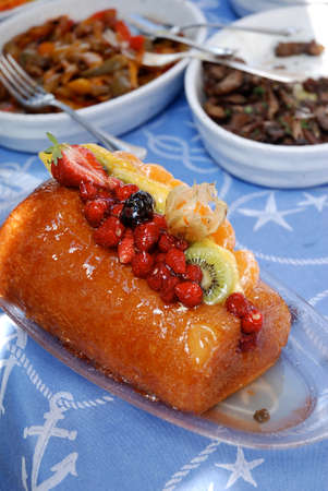 rum baba: typical Italian desserts