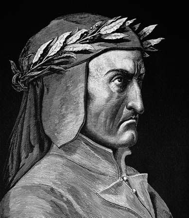 Portrait of DANTE ALIGHIERI. engraved by Paul Gustave Dor