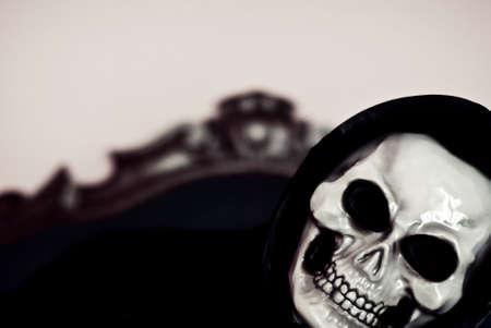 halloween mask: Halloween mask, Jack o Lantern death mask Stock Photo