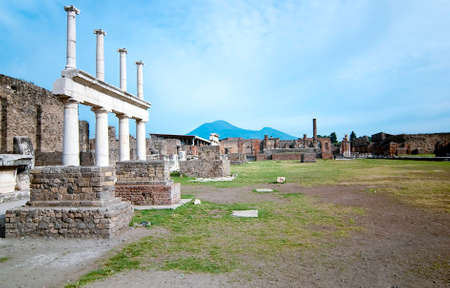 social history: The city is mainly famous for the ruins of the ancient city of Pompeii, located in the frazione of Pompei Scavi Stock Photo