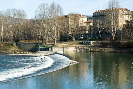 italian architecture: Italian Architecture, river po in Turin, Italy