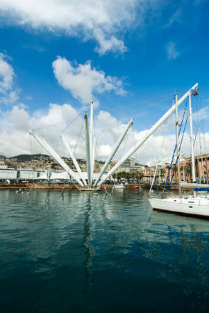 cloude: Structure in Genoa harbor Stock Photo