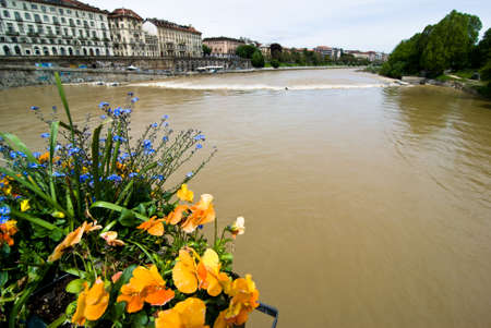italian architecture: Italian Architecture, river po in Turin, Italy.