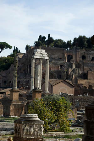 ancient civilization: The Roman Forum, (Latin: Forum Romanum) is located between the Palatine hill and the Capitoline hill of the city of Rome. It is the central area around which the ancient Roman civilization developed.