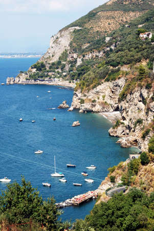 coastal feature: Vico Equense, Sorrento Coast, Italy